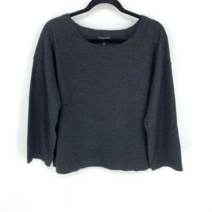 Eileen Fisher Merino Wool Lagenlook Boxy Sweater